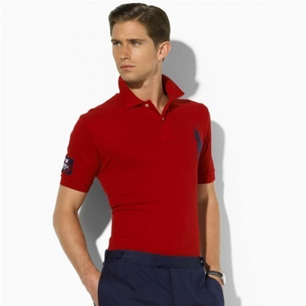 Polo Ralph Lauren 1002 US Open Custom-Fit Polo In Red
