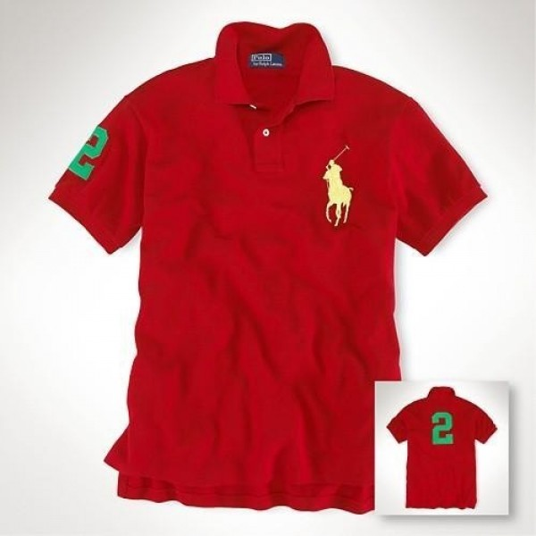 Polo Ralph Lauren 1036 Custom-Fit Big Pony Team Polo In Red