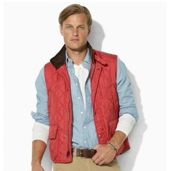 Polo Ralph Lauren Epson Quilted Vest Red