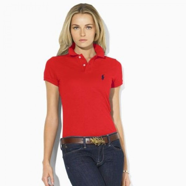 Polo Ralph Lauren Women's polo Classic-Fit Pony Polo Red