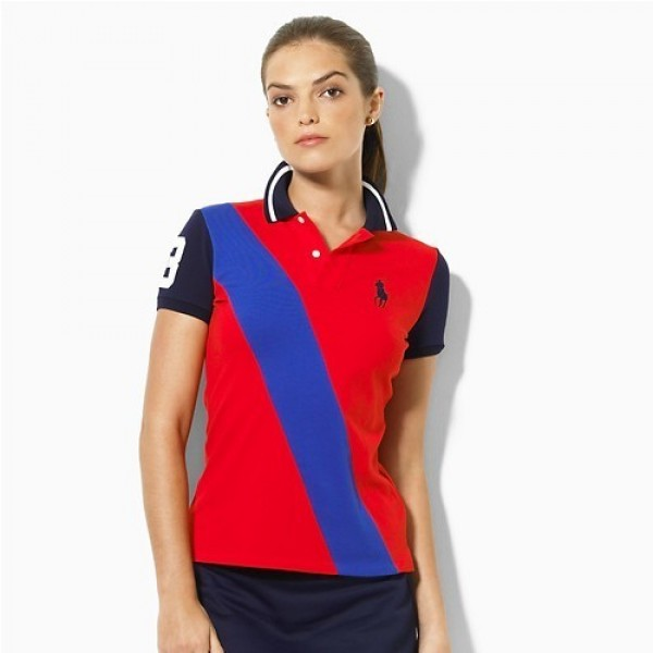 Polo Ralph Lauren 1060 Madison Stretch Mesh Sash Polo In Red