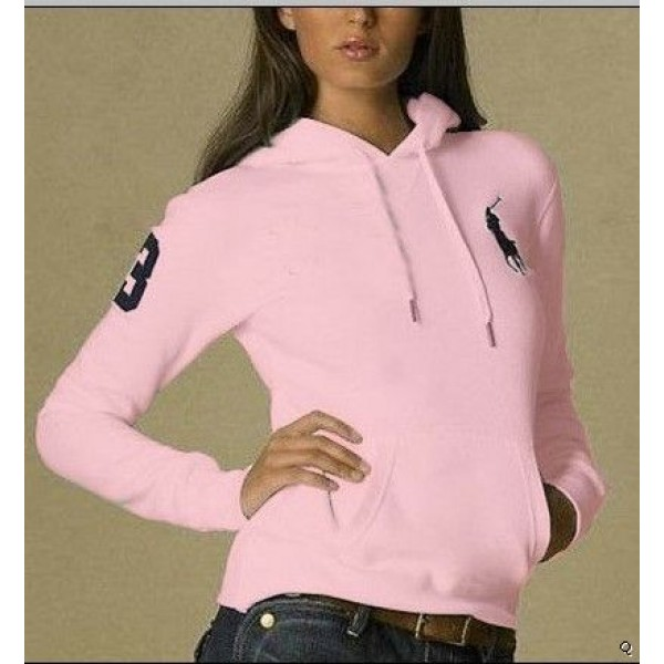 Polo Ralph Lauren Polo Hoody pink women with 3 flag